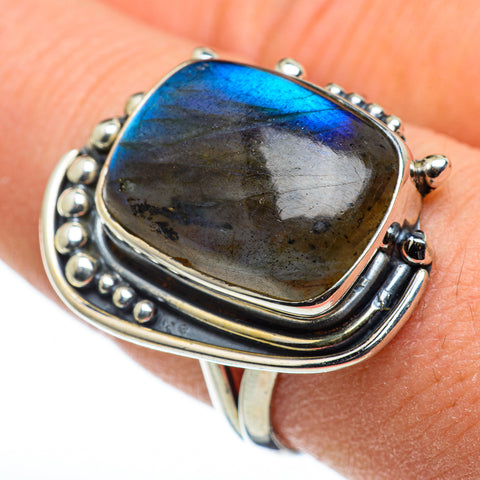 Labradorite Rings handcrafted by Ana Silver Co - RING48428