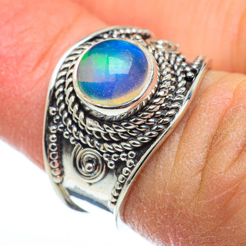 Ethiopian Opal Rings handcrafted by Ana Silver Co - RING48448
