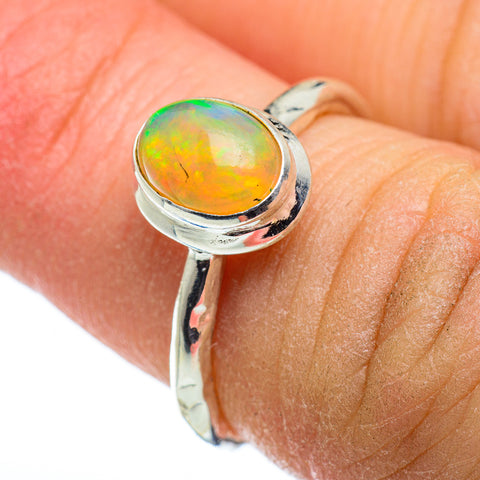 Ethiopian Opal Rings handcrafted by Ana Silver Co - RING48449