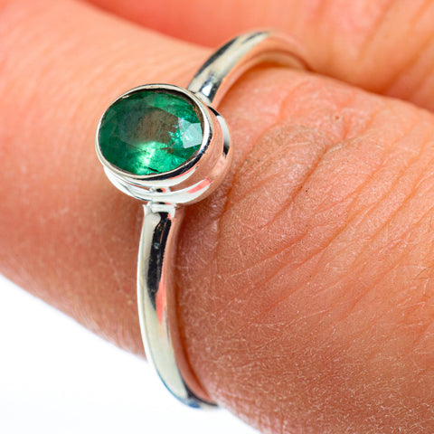 Zambian Emerald Rings handcrafted by Ana Silver Co - RING48460