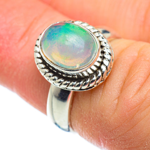 Ethiopian Opal Rings handcrafted by Ana Silver Co - RING48478