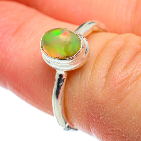 Ethiopian Opal Rings handcrafted by Ana Silver Co - RING48479