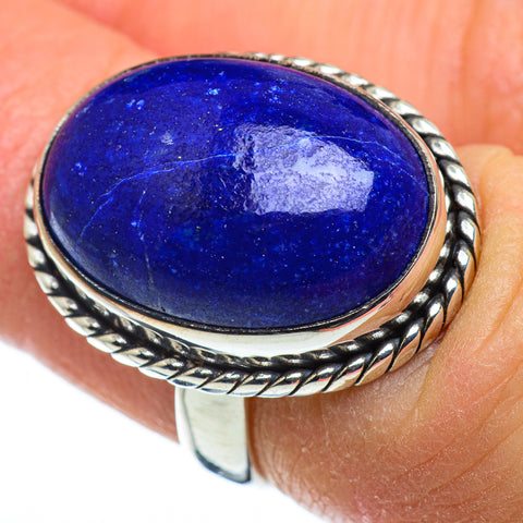 Lapis Lazuli Rings handcrafted by Ana Silver Co - RING48511