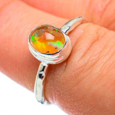 Ethiopian Opal Rings handcrafted by Ana Silver Co - RING48532
