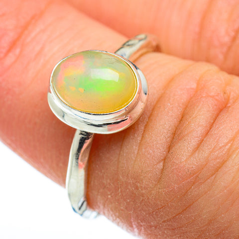 Ethiopian Opal Rings handcrafted by Ana Silver Co - RING48558
