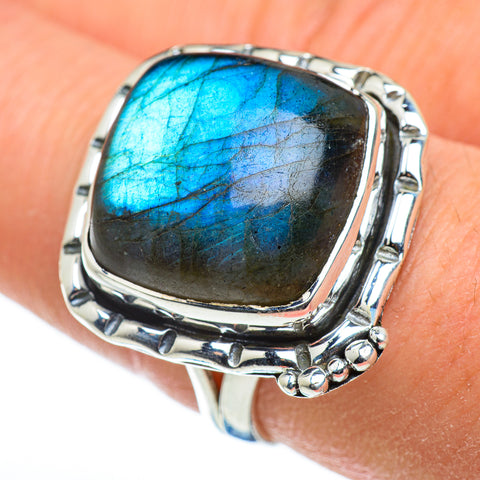 Labradorite Rings handcrafted by Ana Silver Co - RING48564