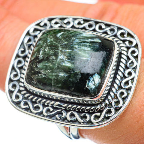 Seraphinite Rings handcrafted by Ana Silver Co - RING48634