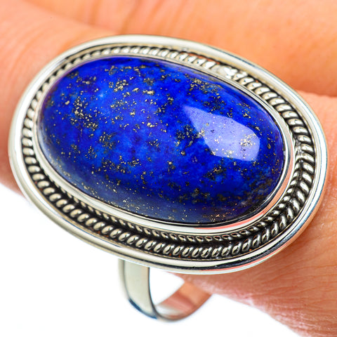Lapis Lazuli Rings handcrafted by Ana Silver Co - RING48667