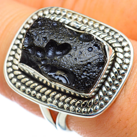 Tektite Rings handcrafted by Ana Silver Co - RING48721