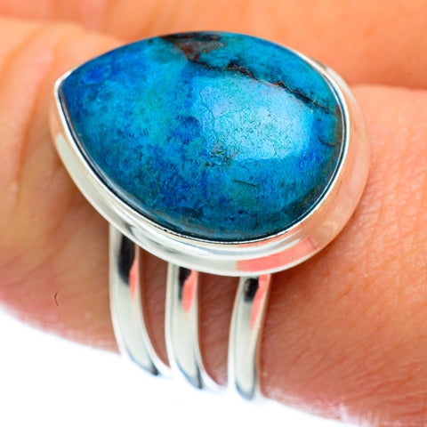 Chrysocolla Rings handcrafted by Ana Silver Co - RING48769
