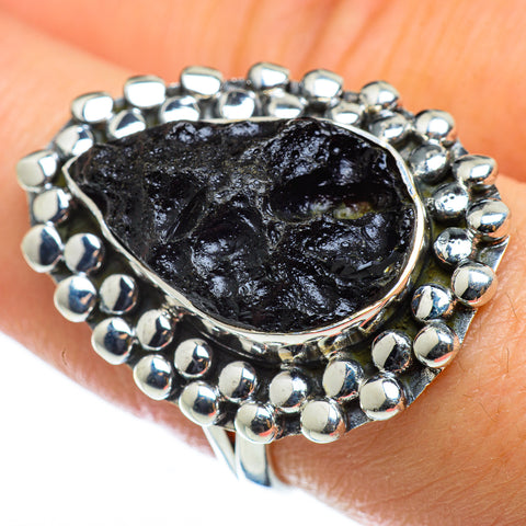 Tektite Rings handcrafted by Ana Silver Co - RING48792