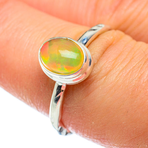 Ethiopian Opal Rings handcrafted by Ana Silver Co - RING48867