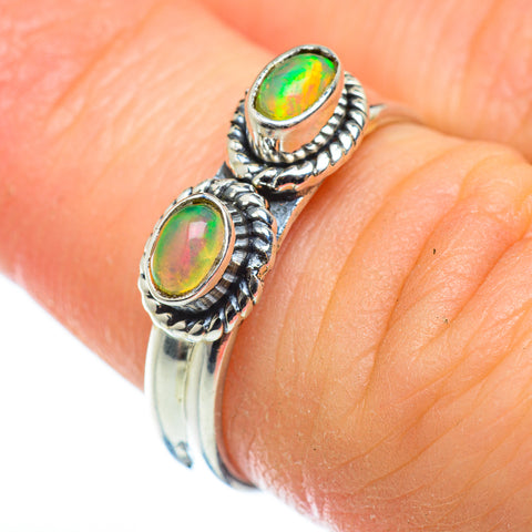 Ethiopian Opal Rings handcrafted by Ana Silver Co - RING48931