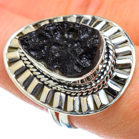 Tektite Rings handcrafted by Ana Silver Co - RING49048
