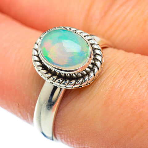 Ethiopian Opal Rings handcrafted by Ana Silver Co - RING49354