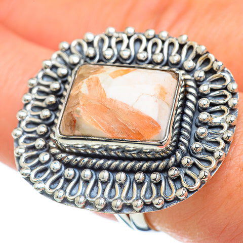 Scolecite Rings handcrafted by Ana Silver Co - RING49427