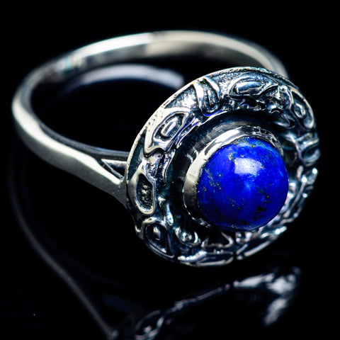Lapis Lazuli Rings handcrafted by Ana Silver Co - RING5038