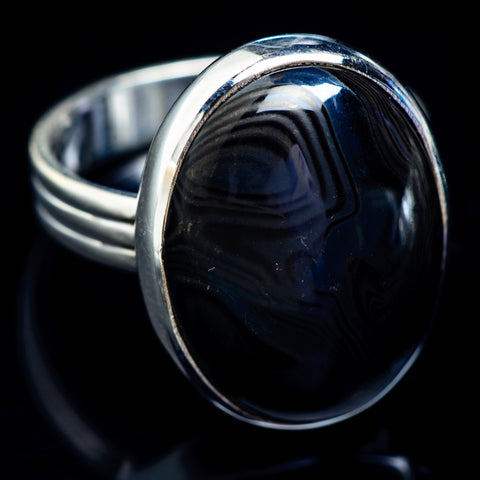 Psilomelane Rings handcrafted by Ana Silver Co - RING5054