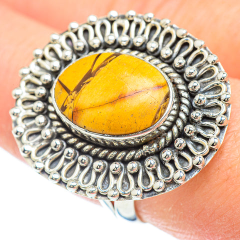 Brecciated Mookaite Rings handcrafted by Ana Silver Co - RING50847