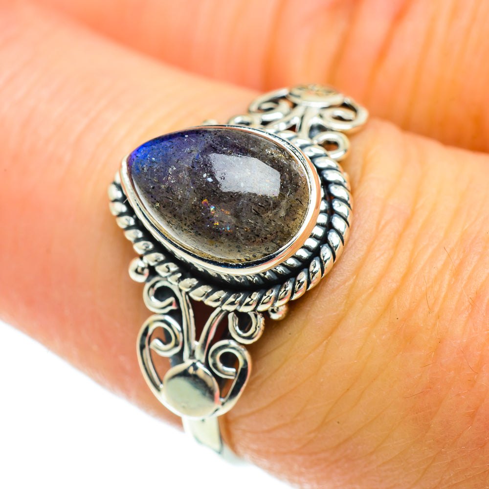 Labradorite Rings handcrafted by Ana Silver Co - RING51598