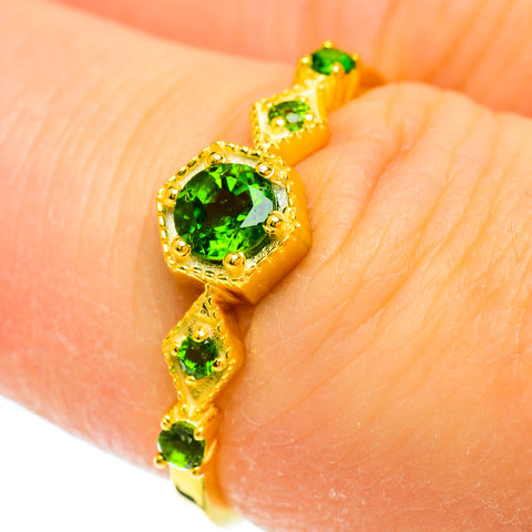 Chrome Diopside Emerald Copper Rings handcrafted by Ana Silver Co - RING51707