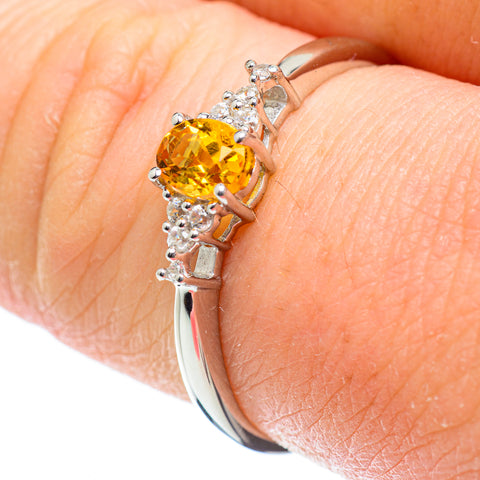 Citrine Rings handcrafted by Ana Silver Co - RING51793