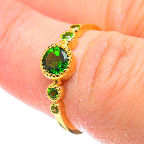 Chrome Diopside Rings handcrafted by Ana Silver Co - RING51817