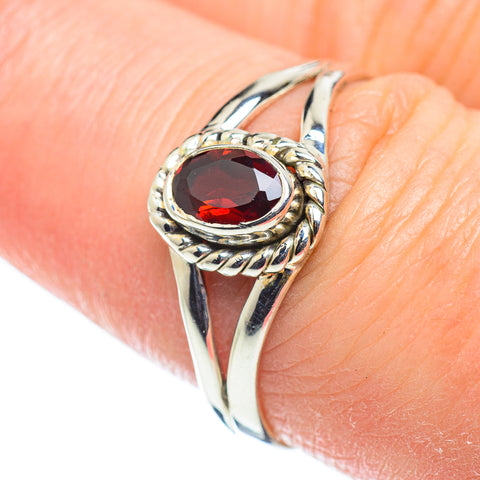 Garnet Rings handcrafted by Ana Silver Co - RING52029