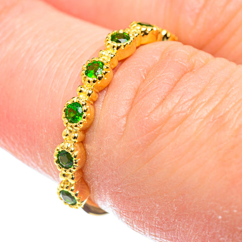Chrome Diopside Rings handcrafted by Ana Silver Co - RING52100