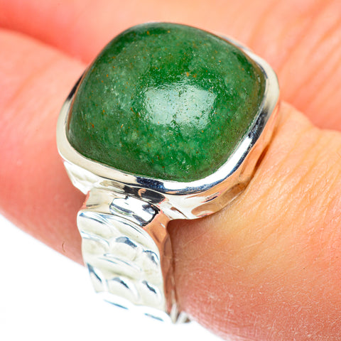 Green Aventurine Rings handcrafted by Ana Silver Co - RING52277