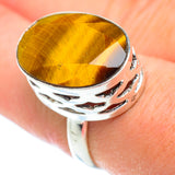 Tiger Eye Rings handcrafted by Ana Silver Co - RING52616