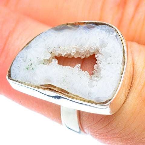 White Geode Slice Rings handcrafted by Ana Silver Co - RING53035