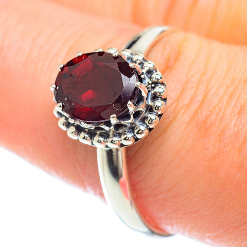 Garnet Rings handcrafted by Ana Silver Co - RING53099