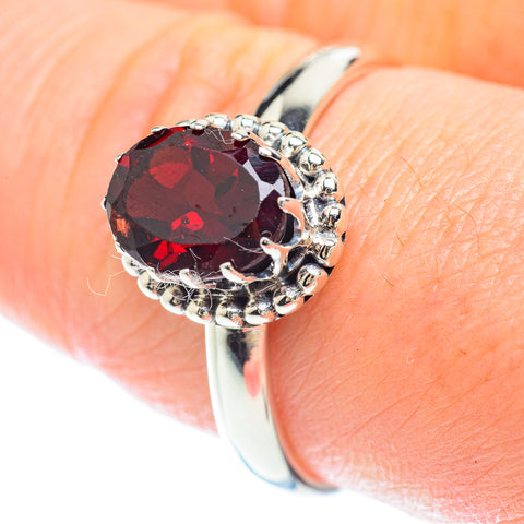 Garnet Rings handcrafted by Ana Silver Co - RING53241
