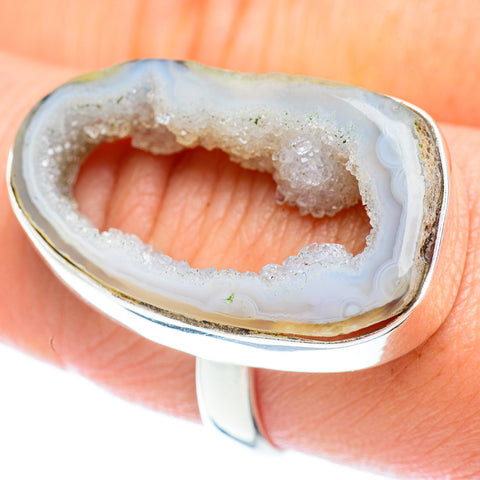 White Geode Slice Rings handcrafted by Ana Silver Co - RING53350