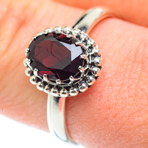 Garnet Rings handcrafted by Ana Silver Co - RING53399
