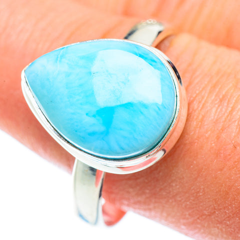 Larimar Rings handcrafted by Ana Silver Co - RING53534