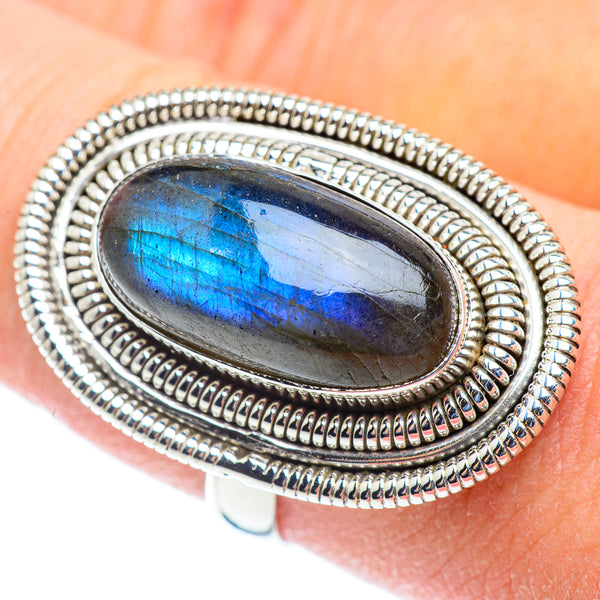 Labradorite Rings handcrafted by Ana Silver Co - RING53787