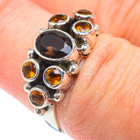 Smoky Quartz Rings handcrafted by Ana Silver Co - RING53837