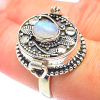 Rainbow Moonstone Rings handcrafted by Ana Silver Co - RING54125