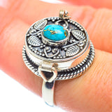 Blue Copper Composite Turquoise Rings handcrafted by Ana Silver Co - RING54173