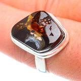 Mexican Fire Agate Rings handcrafted by Ana Silver Co - RING54416