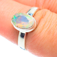 Ethiopian Opal Rings handcrafted by Ana Silver Co - RING54421