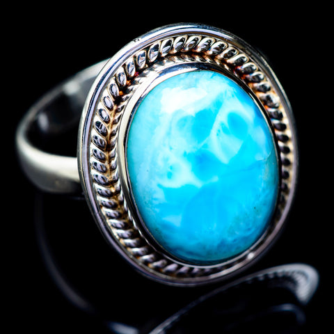 Larimar Rings handcrafted by Ana Silver Co - RING5482