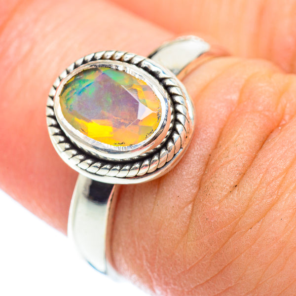 Ethiopian Opal Rings handcrafted by Ana Silver Co - RING54831