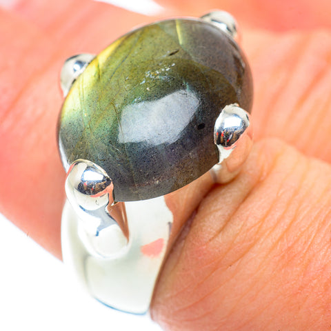 Labradorite Rings handcrafted by Ana Silver Co - RING54905