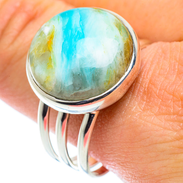 Peruvian Opal Rings handcrafted by Ana Silver Co - RING55034