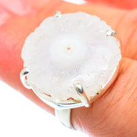 White Solar Quartz Rings handcrafted by Ana Silver Co - RING55265