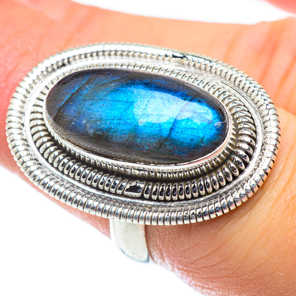 Labradorite Rings handcrafted by Ana Silver Co - RING55411
