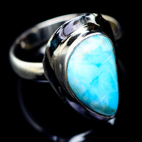 Larimar Rings handcrafted by Ana Silver Co - RING5548